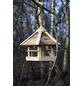 DOBAR Vogelfutterhaus, für Wildvögel, Kiefernholz/Kunststoff, natur/Holzfarben-Thumbnail