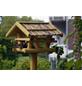 DOBAR Vogelhaus, für Wildvögel, Kiefernholz/Bitumen, natur-Thumbnail