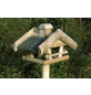 DOBAR Vogelhaus, für Wildvögel, Kiefernholz/Bitumen, natur/grün-Thumbnail