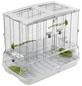 Vogelkäfig, BxHxT: 60,9 x 52 x 38,1 cm, weiss/grün-Thumbnail