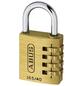 ABUS Vorhangschloss, aus Metall, 95 mm Breite, messingfarben-Thumbnail