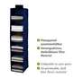 WENKO Wäschesortierer »Air«, BxHxT: 3 x 120 x 30 cm, Polypropylen (PP), dunkelblau-Thumbnail