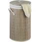 WENKO Wäschetruhe, BxHxL: 35 x 60 x 35 cm, Bambus-Thumbnail