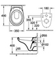 VILLEROY & BOCH Wand WC »OMNIA classic«, Tiefspüler, alpinweiß, mit Spülrand-Thumbnail