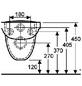 GEBERIT Wand WC »Vitalis«, Tiefspüler, weiß, mit Spülrand-Thumbnail