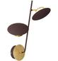 wofi® Wandleuchte braun/goldfarben 4,5 W, 2-flammig, inkl. Leuchtmittel in warmweiß-Thumbnail