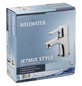 "WELLWATER Waschtischarmatur »JETMIX STYLE«, Messing, glänzend, ⅜"", inkl. Ablaufgarnitur-Thumbnail"