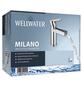 """WELLWATER Waschtischarmatur »Milano«, Messing, glänzend, ⅜"""", inkl. Ablaufgarnitur-Thumbnail"""