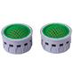 CORNAT Wasserspar-Strahlregler-Einsatz, Grau/Grün-Thumbnail