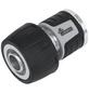 "MR. GARDENER Wasserstopp-Schlauchstück, Aluminium/Kunststoff, 3/4""-Thumbnail"