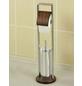 WENKO WC-Bürsten & WC-Garnituren »Belingo«, Höhe: 73  cm, chromfarben/walnussfarben-Thumbnail
