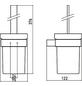 WC-Bürsten & WC-Garnituren, Höhe: 37,6 cm, chromfarben-Thumbnail