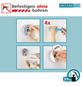 WENKO WC-Bürsten & WC-Garnituren »Milazzo«, Edelstahl/Stahl/Kunststoff, glänzend, weiß/chromfarben-Thumbnail