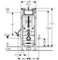 GEBERIT WC-Montageelement »Duofix«, BxHxT: 500 x 1120 x 170 mm, blau-Thumbnail