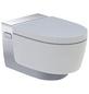 GEBERIT WC-Set »AquaClean«, Tiefspüler, weiss/chromfarben, Spülrandlos-Thumbnail