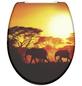 SCHÜTTE WC-Sitz »Africa«, Duroplast,  schwarz/gelb,  oval-Thumbnail