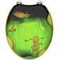 SCHÜTTE WC-Sitz »Apple«, Mitteldichte Faserplatte (MDF),  gelb/gruen,  oval-Thumbnail