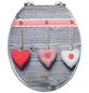 WENKO WC-Sitz »Bavarian Hearts« mit Holzkern,  oval-Thumbnail