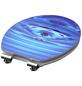 SCHÜTTE WC-Sitz »Blue Drop«, Mitteldichte Faserplatte (MDF),  weiss/blau,  oval-Thumbnail