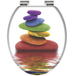 SCHÜTTE WC-Sitz »Colorful«, Mitteldichte Faserplatte (MDF),  weiss/bunt,  oval-Thumbnail