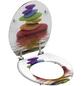 SCHÜTTE WC-Sitz »Colorful Stones«, Mitteldichte Faserplatte (MDF),  weiss/bunt,  oval-Thumbnail