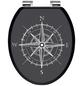 SCHÜTTE WC-Sitz »Compass«, Mitteldichte Faserplatte (MDF),  weiss/schwarz,  oval-Thumbnail