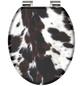 SCHÜTTE WC-Sitz »Cow skin«, Mitteldichte Faserplatte (MDF),  weiss/braun,  oval-Thumbnail