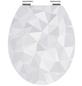 SCHÜTTE WC-Sitz »Diamond«, Mitteldichte Faserplatte (MDF),  weiß,  oval-Thumbnail