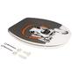 SANITOP-WINGENROTH WC-Sitz »DJ Dog«, mit Holzkern, oval, mit Softclose-Funktion-Thumbnail