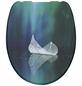 SCHÜTTE WC-Sitz »Fallen Leaf«, Duroplast,  weiss/blau/tuerkis,  oval-Thumbnail
