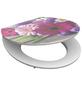 SCHÜTTE WC-Sitz »Flowers«, Mitteldichte Faserplatte (MDF),  rosa/pink,  oval-Thumbnail