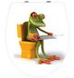 WENKO WC-Sitz »Frog News«, Duroplast, oval, mit Softclose-Funktion-Thumbnail