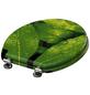 SCHÜTTE WC-Sitz »Green Leafs«, Mitteldichte Faserplatte (MDF),  gelb/gruen,  oval-Thumbnail