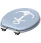 SCHÜTTE WC-Sitz »Marine Style«, Mitteldichte Faserplatte (MDF),  weiss/hellblau,  oval-Thumbnail