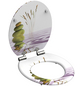 SCHÜTTE WC-Sitz Mitteldichte Faserplatte (MDF),  weiss/gruen/rosa,  oval-Thumbnail