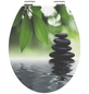 SCHÜTTE WC-Sitz »Oasis«, Mitteldichte Faserplatte (MDF),  grau/weiss/gruen,  oval-Thumbnail