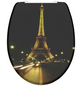 SCHÜTTE WC-Sitz »Paris Night«, Duroplast,  schwarz/gelb,  oval-Thumbnail