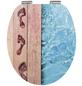 SCHÜTTE WC-Sitz »Poolside«, Mitteldichte Faserplatte (MDF),  holzfarben/blau,  oval-Thumbnail