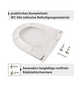 SANITOP-WINGENROTH WC-Sitz »Renova Nr. 1«, Duroplast, D-Form, mit Softclose-Funktion-Thumbnail