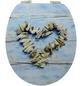 SCHÜTTE WC-Sitz »Shell Heart«, Mitteldichte Faserplatte (MDF),  blau/beige,  oval-Thumbnail