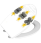 WENKO WC-Sitz »Stones with Flowers«, Duroplast, oval, mit Softclose-Funktion-Thumbnail