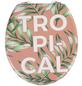 WENKO WC-Sitz »Tropical« mit Holzkern,  oval-Thumbnail