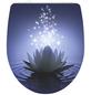 SCHÜTTE WC-Sitz »Water Lilly«, Duroplast,  weiss/blau,  oval-Thumbnail