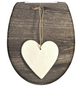 SCHÜTTE WC-Sitz »Wood Heart«, Duroplast,  weiss/braun,  oval-Thumbnail