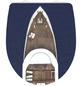 SCHÜTTE WC-Sitz »Yachting«, Duroplast,  weiss/braun/blau,  oval-Thumbnail