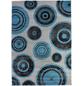 ANDIAMO Web-Teppich »Aurora«, BxL: 120 x 170 cm, grau/türkis-Thumbnail