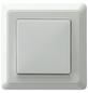 GO/ON! Wechselschalter mit Rahmen, PrimaLuxe, Kunststoff, Weiß-Thumbnail