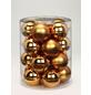 CASAYA Weihnachtskugel, Ø: 6 cm, goldfarben, 20 Stück-Thumbnail