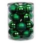 CASAYA Weihnachtskugel, Ø: 6 cm, tannengrün, 20 Stück-Thumbnail