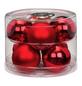 CASAYA Weihnachtskugel, Ø: 7 cm, rot, 8 Stück-Thumbnail